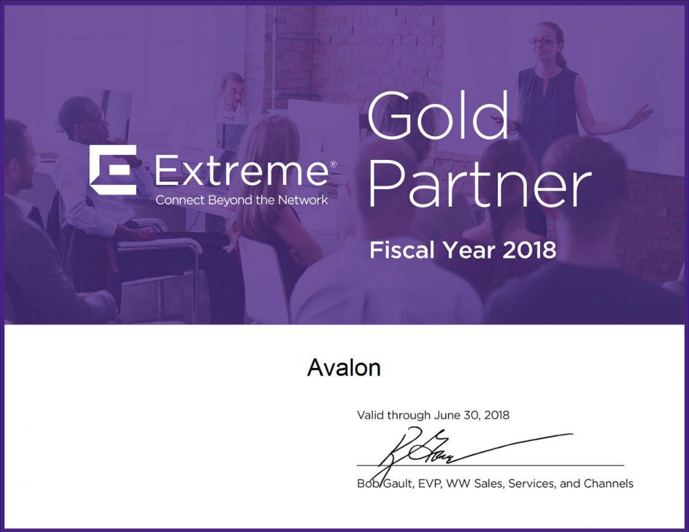 Gold-партнер Extreme Networks